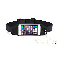 "Черный спортивный чехол-сумка на пояс oneLounge для iPhone X/XS/8 Plus/7 Plus/6s Plus/6 Plus & смартфонов до 5.8"""