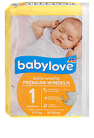 "Babylove премиум-подгузники ""1"" 2-5кг 28шт Premium-Windeln newborn 2-5kg"