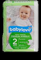 "Babylove премиум-подгузники ""2"" 3-6кг  42шт Premium-Windeln mini 3-6kg"