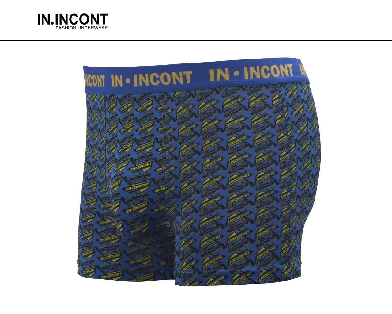 Мужские боксеры бамбук Марка «IN.INCONT»  Арт.8302