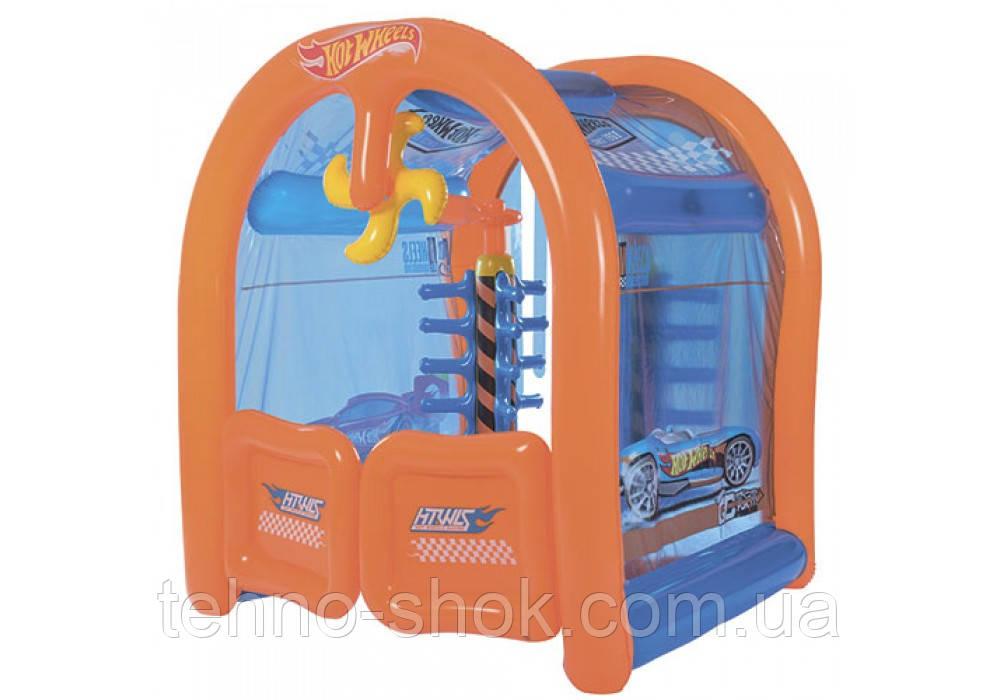 Детский надувной центр Bestway 93406 «Автомойка Hot Wheels»