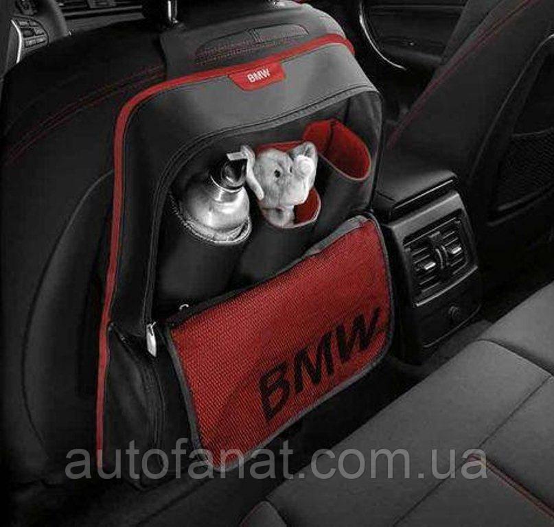 Оригинальный карман на спинку сиденья BMW Sport Line Red (52122219889)