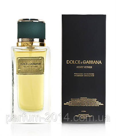 Парфюмированная вода унисекс Dolce&Gabbana Velvet Vetiver (реплика), фото 2
