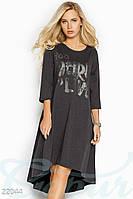 Асимметричное трикотажное платье Gepur Contrast 22044