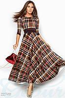 Клетчатое платье-макси Gepur Moment 22749