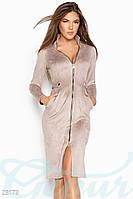 Облегающее замшевое платье Gepur Extraordinary 23173