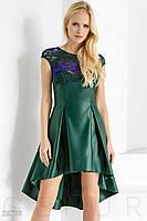 Яркое каскадное платье Gepur Glory 23793