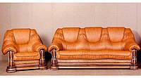 Кожаный комплект мебели Grizzly, мягкая мебель, мебель в коже, кожаная мебель, комплект мебели