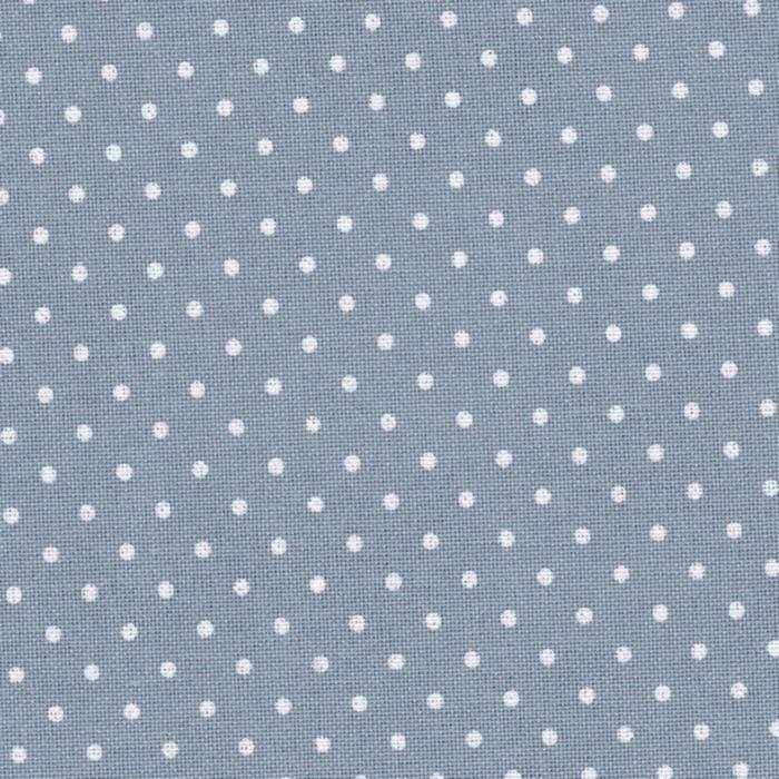 3984/5269 Murano Lugana Petit Point 32 (ширина 140см) античний синій в білий горошок