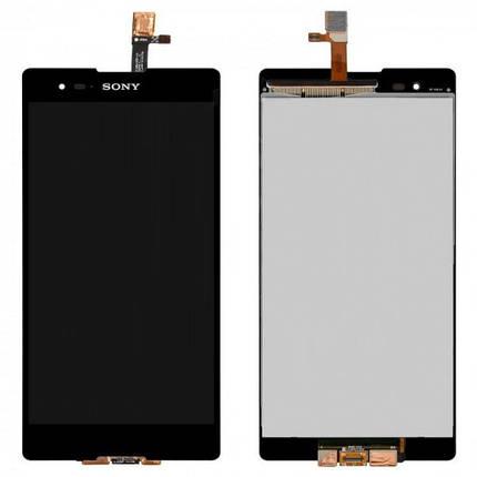 Дисплей (экран) для Sony D5303 Xperia T2 Ultra с сенсором (тачскрином) черный Оригинал, фото 2