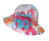 Панамка детская для девочки летняя с цветами