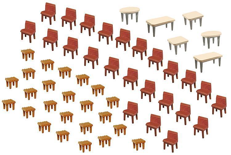 Faller 180438комплек столов и стульев / H0 1:87