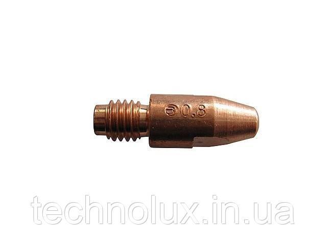 Токосъемный наконечник Binzel для сварочных полуавтоматов ф1,6/М6/28