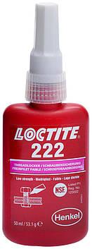 Резьбовой фиксатор низкой прочности Loctite 222, 50 мл