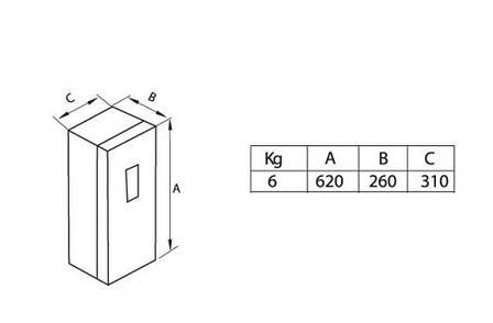 Ящик для вогнегасника 6/9кг Nevpa (8401), фото 2