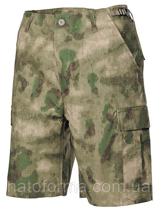 Шорты, бриджи в покрое BDU, расцветка A-Tacs FG, Rip-Stop (от компании МFH), военная форма, реплика