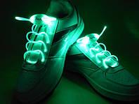 Светящиеся шнурки  4-го поколения,зеленые—самые Ярки!