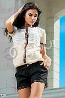 Костюм блузка-боди с кружевом Gepur 7384