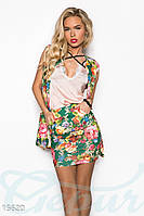 Стильный цветочный костюм Gepur Fabulous 15620