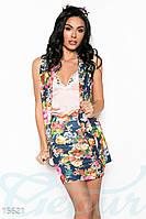 Стильный цветочный костюм Gepur Fabulous 15621