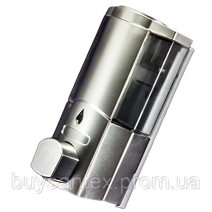 Дозатор для мыла одинарный, настенный ( Д01) Диспансер хромированный., фото 2