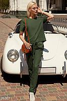 Льняной костюм с брюками Gepur Summer in the city 26367