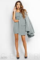 Деловой костюм с платьем Gepur Back To Autumn Office 28060