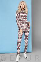 Флисовый костюм с рисунком Gepur Winter mood 29325