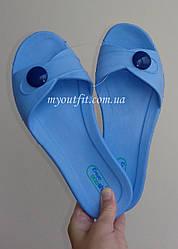 Женские сланцы Голубые Тапочки Шлёпанцы Размер 40