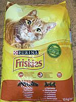 Сухой корм Friskies для кошек, с мясом и курицей 10КГ