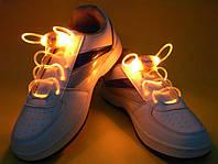 Светящиеся шнурки  4-го поколения,оранжевые —самые Ярки!