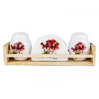 Набор для специй с салфетницей Розы 104089 R