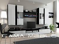 Гостиная стенка Dream II Cama черный/белый глянец