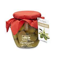 Оливки с косточкой Casa Rinaldi Гигантские зеленые GGG 590 г, фото 1