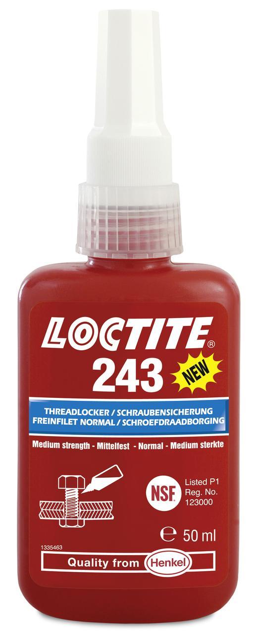 Резьбовой фиксатор средней прочности Loctite 243, 50 мл