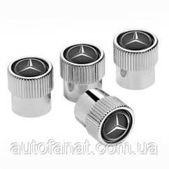 Оригинальные колпачки для ниппелей Mercedes-Benz Dust Caps Black (B66472002)