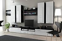 Гостиная стенка Dream III Cama черный/белый глянец