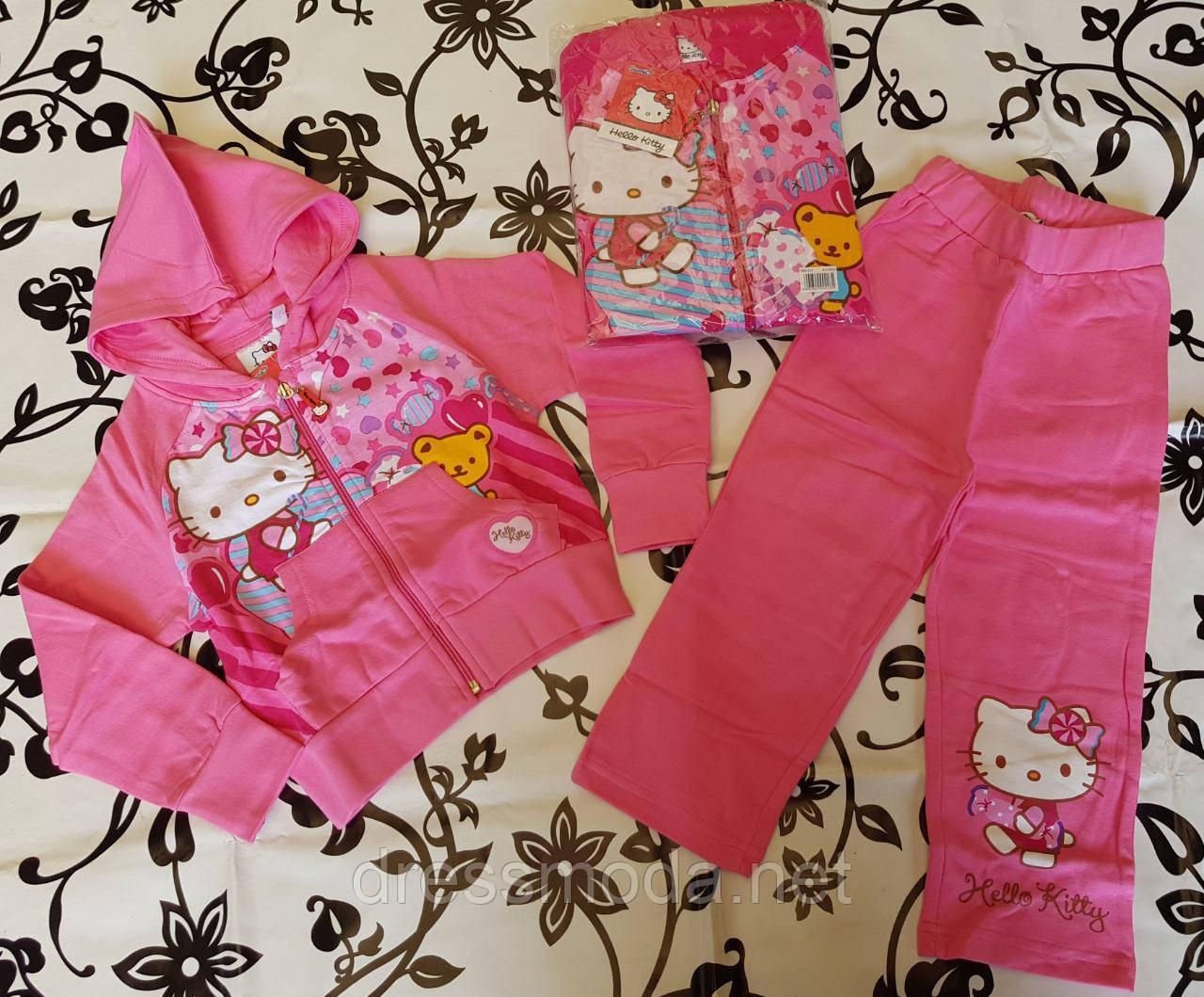 Трикотажний спортивний костюм з легким начосом для дівчаток Hello Kitty 92-128 р. р.