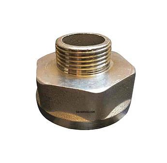 Латунний перехідник 1в*1/2н нікельований