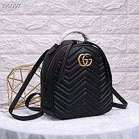 Женский рюкзак GUCCI  GG Marmont чёрный , В НАЛИЧИИ