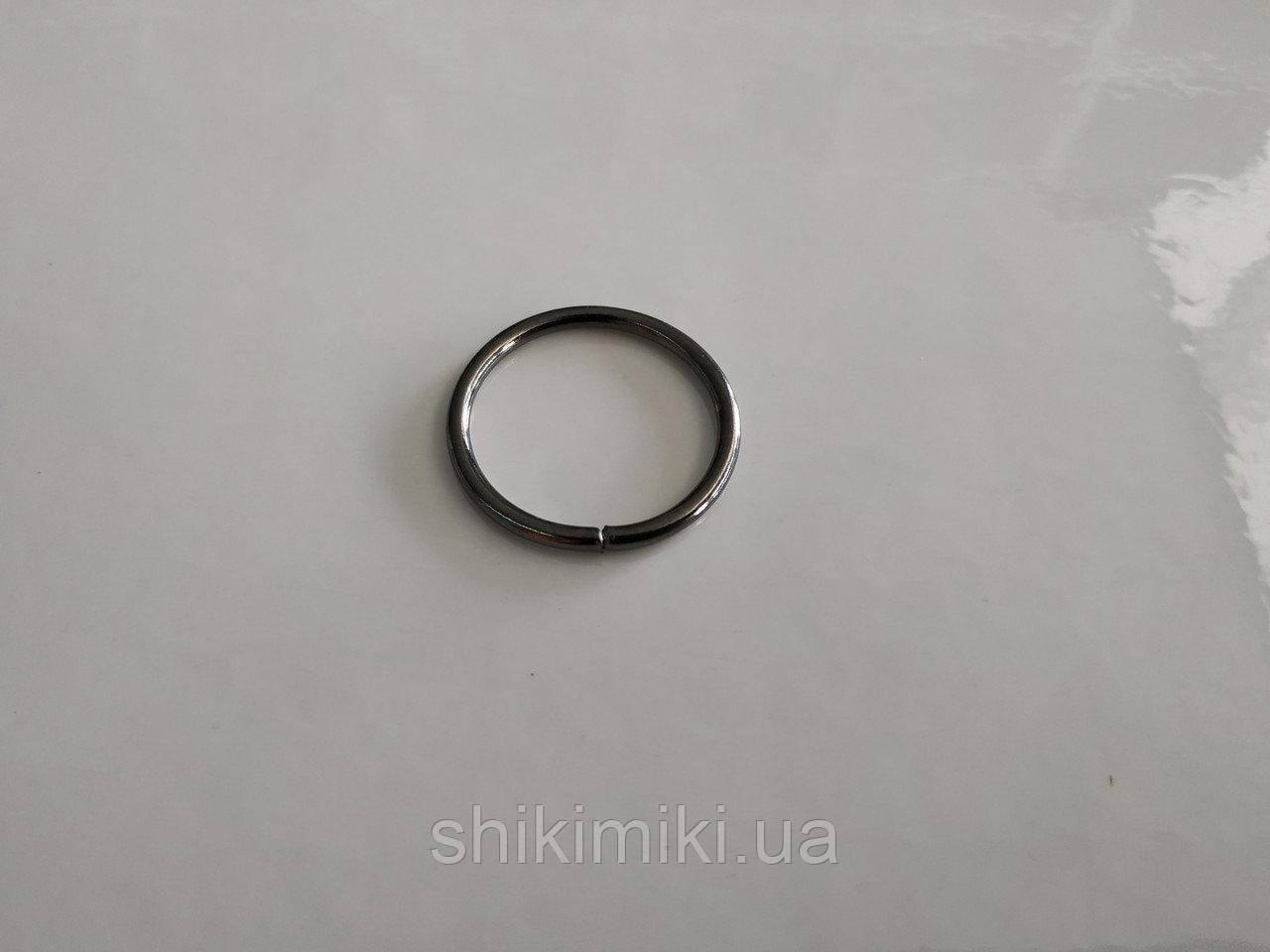 Кольца соединительные маленькие KL14-2 (15 мм), цвет черный никель