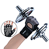 Перчатки для тренажерного зала, фитнеса мужские, женские с напульсником (Boodun) Черный, L