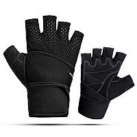 Атлетические перчатки для тренажерного зала, фитнеса мужские с напульсником