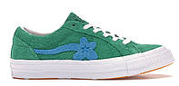 Женские кеды Converse One Star Ox Tyler the Creator Golf Le Fleur Jolly Green (конверс ле флер, зеленые)