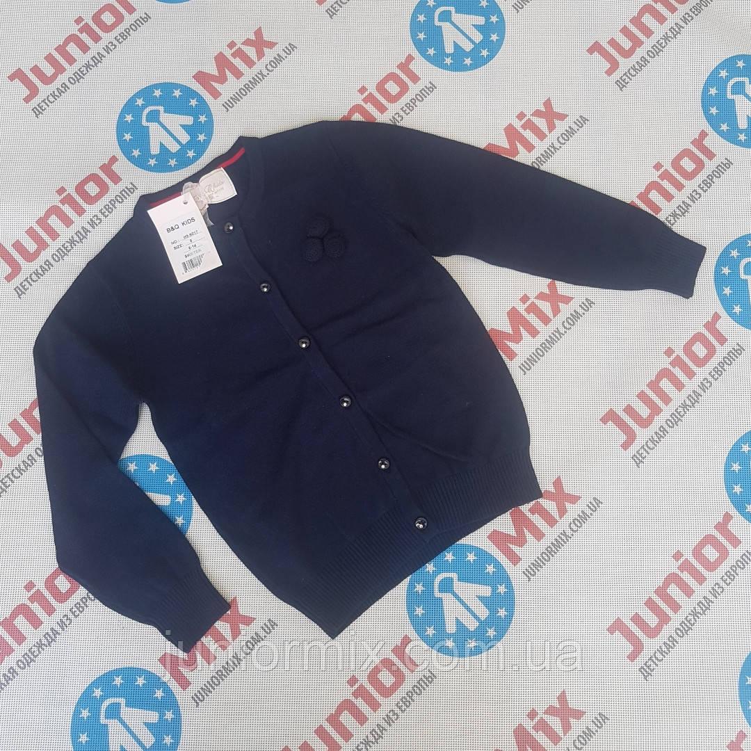 Детская школьная кофта для девочек синего цвета оптом B&Q