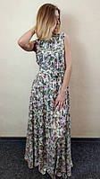 Женское летнее платье в пол с юбкой полусолнце П266, фото 1