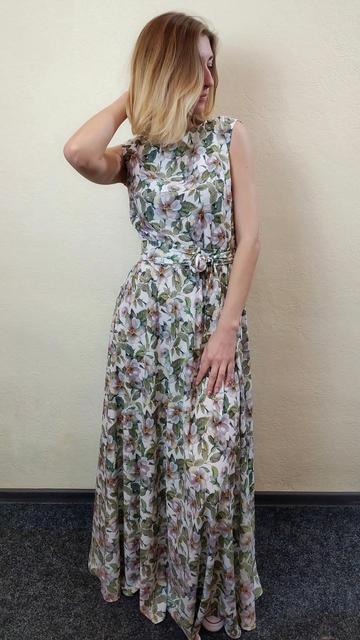 b2d1094167971 Женское летнее платье в пол с юбкой полусолнце П266, цена 1 500 грн ...