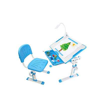 Растущая парта со стульчиком Cubby Karo Blue - ОПТОМ ДЛЯ ШКОЛ, фото 2