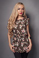 Летняя женская блуза из штапеля