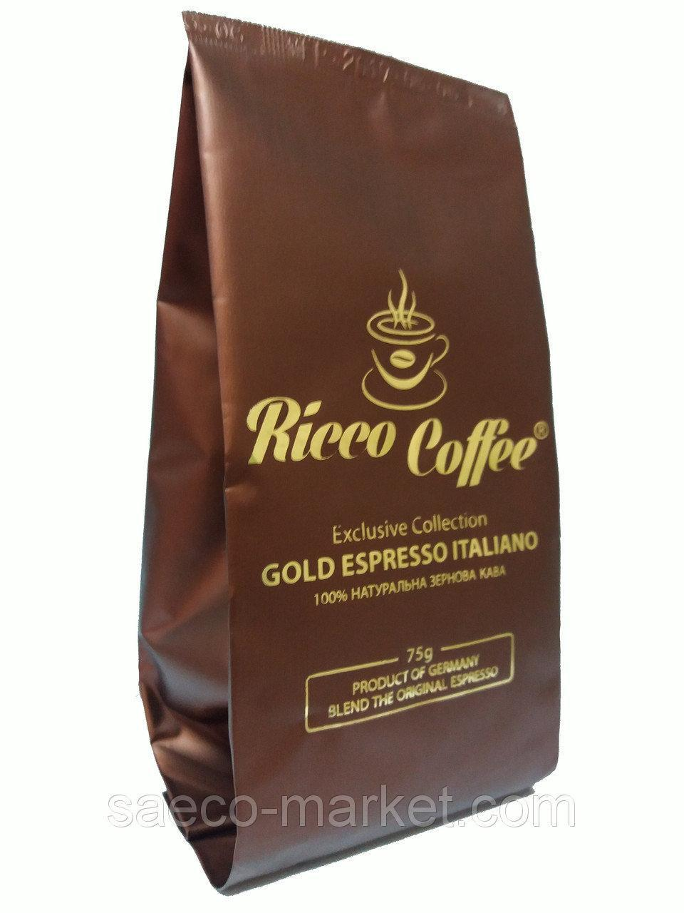 Кава мелена Ricco Coffee Gold Espresso 75 г